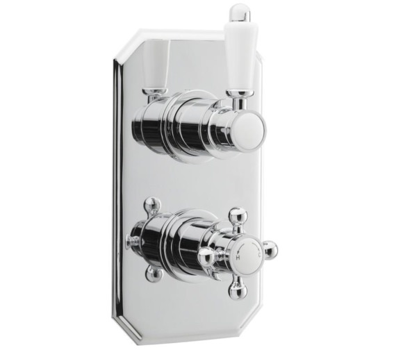 Nuie Premier Victorian Concealed Thermostatic Twin Shower Valve