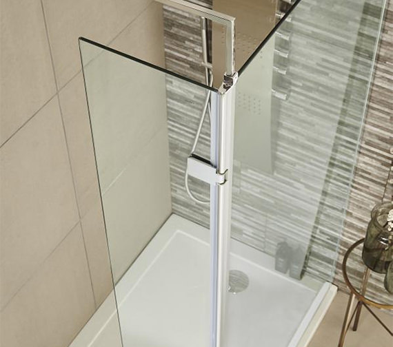 Premier 300 x 1832mm Wetroom Hinged Return Screen