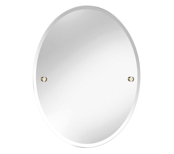 Bristan Oval 610 x 500mm Mirror Gold