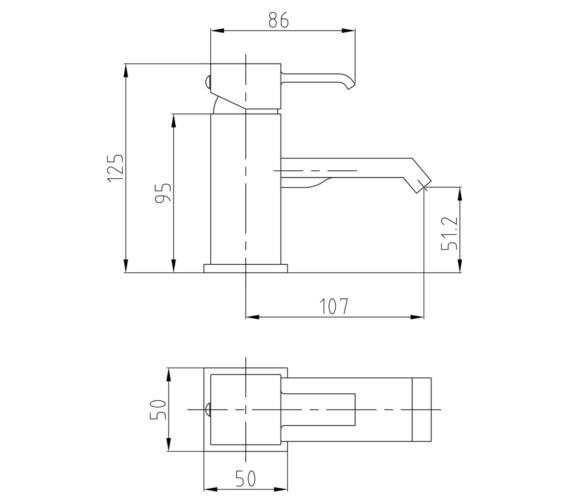 Technical drawing QS-V10880 / TBL305