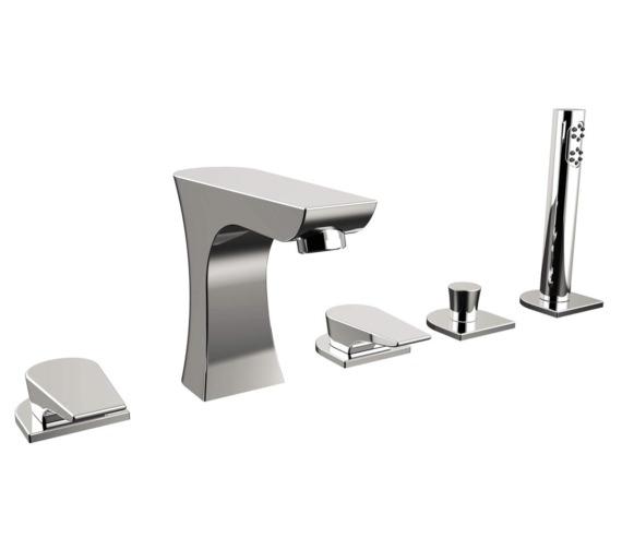 Bristan Hourglass 5 Hole Deck Mounted Bath Shower Mixer Tap