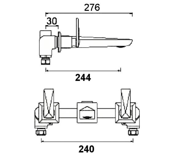 Technical drawing QS-V6964 / EBY 3HWMBF C