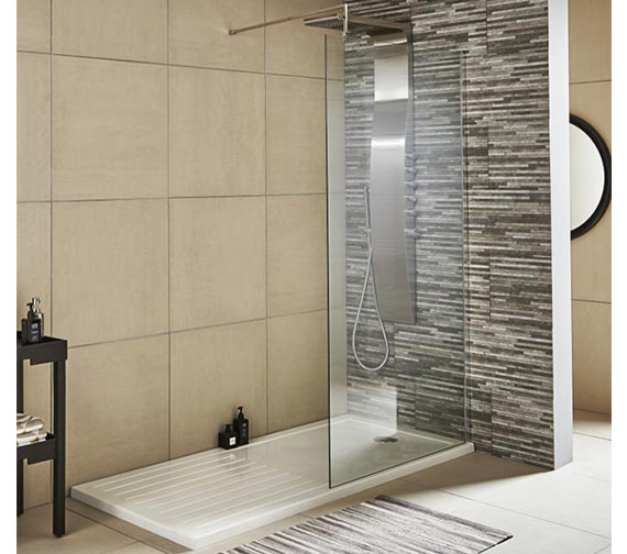 Premier Wetroom Walk-In 1400 x 1850mm Shower Panel With Support Bar