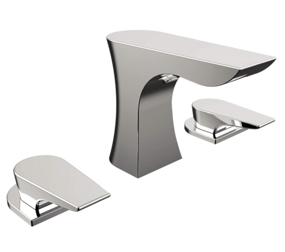 Bristan Hourglass 3 Hole Deck Mounted Basin Mixer Tap