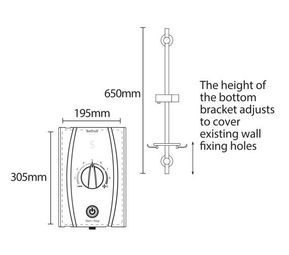 Technical drawing QS-V7530 / JOYTHC85 W