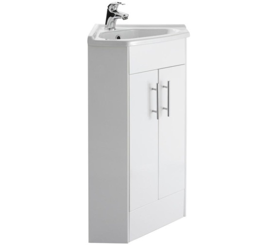 Nuie Premier Mayford 590mm Double Door Corner Cabinet And Basin