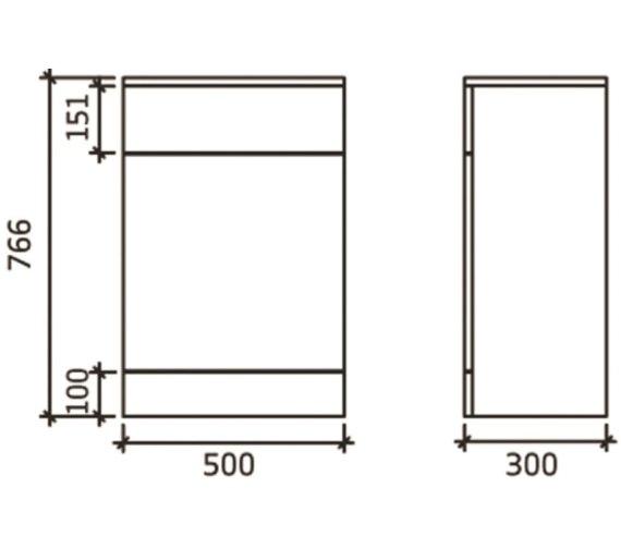 Technical drawing QS-V43110 / PRC143
