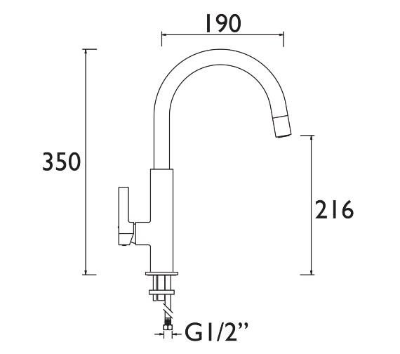 Technical drawing QS-V7547 / MLB SNK BLK