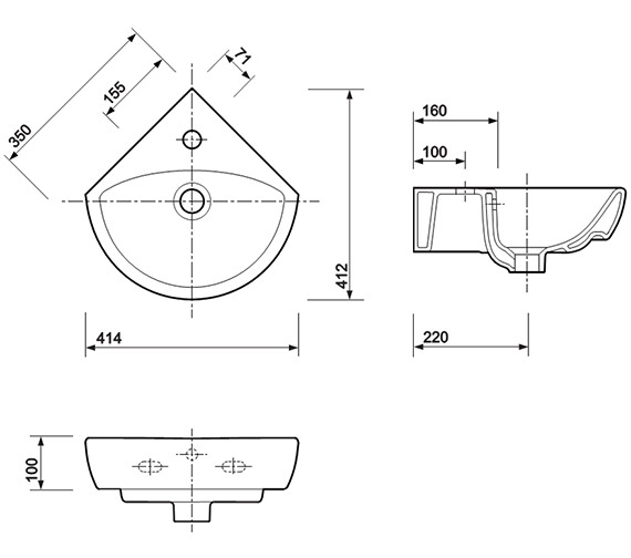 Technical drawing QS-V84308 / E14891WH