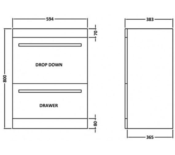Technical drawing QS-V54820 / NVM193