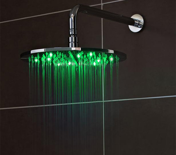 Alternate image of Premier Round Or Square 200mm Fixed Shower Head With LED