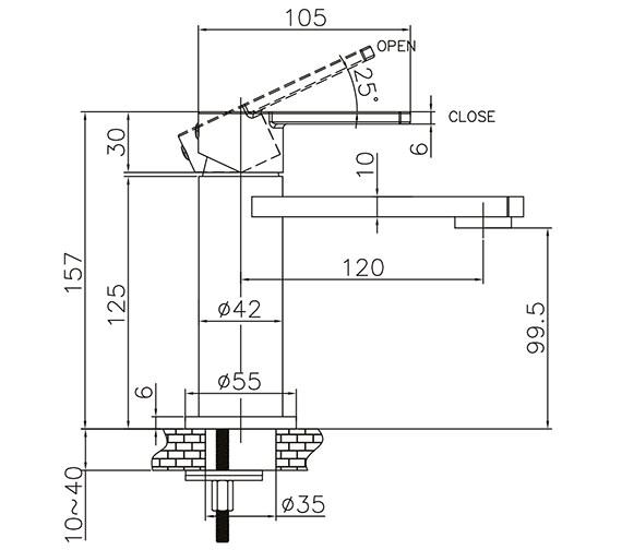 Technical drawing QS-V21898 / WP110DNC