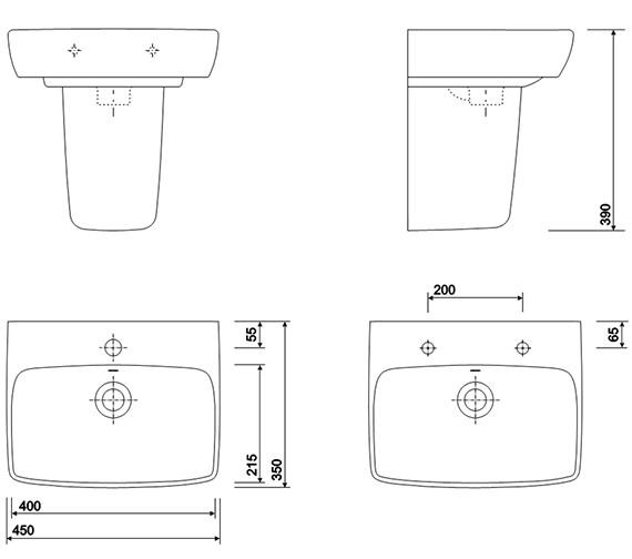 Technical drawing QS-V10718 / E14832WH