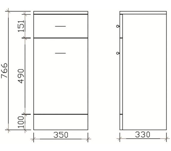 Technical drawing QS-V19387 / PRC154