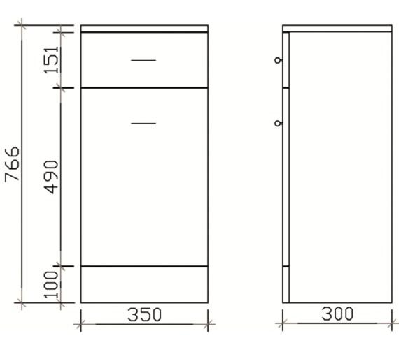 Technical drawing QS-V19386 / PRC153