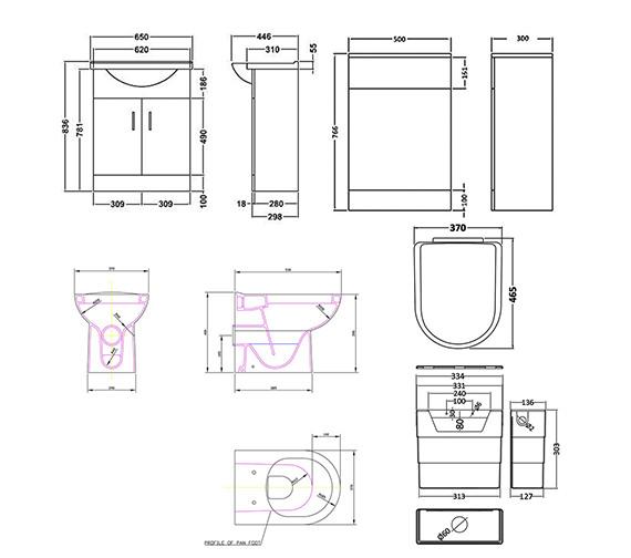 Technical drawing QS-V21544 / PRC103  NBC003