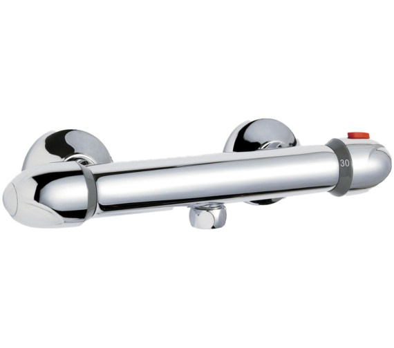 Premier Thermostatic Round Bar Shower Valve With Bottom Outlet