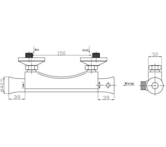 Technical drawing QS-V45018 / JTY308