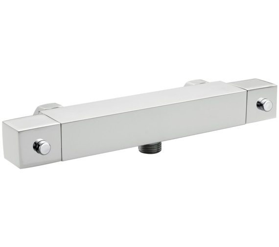 Nuie Thermostatic Square Bar Shower Valve With Bottom Outlet