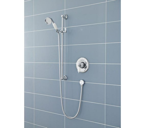 Additional image of Lauren Traditional Single Function Shower Slide Rail Kit