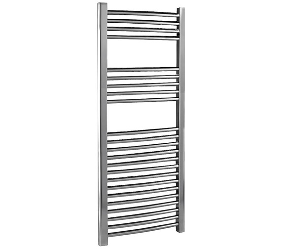 Lauren 500 x 1100mm Chrome Curved Heated Towel Rail