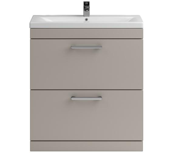 Lauren Shipton 800mm Stone Grey 2 Drawer Floor Standing Cabinet And Basin
