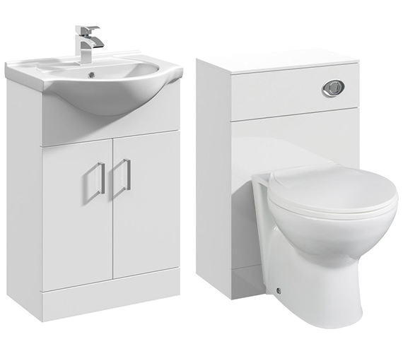 Premier Mayford 2 Door 550mm Bathroom Vanity Unit With Back To Wall WC Unit