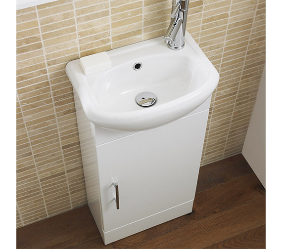Nuie Sienna 420mm Floor Standing Cabinet And Basin