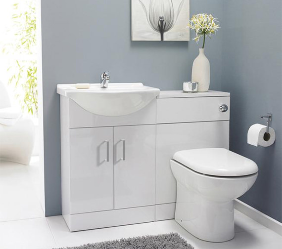 Lauren Saturn Cloakroom Furniture Pack With Round Basin