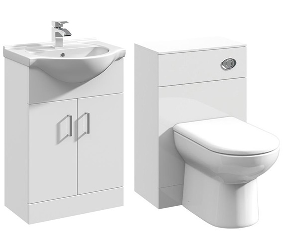 Additional image of Lauren Saturn Cloakroom Furniture Pack With Round Basin