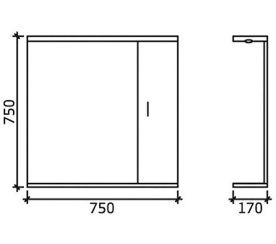 Technical drawing QS-V45068 / PRC114