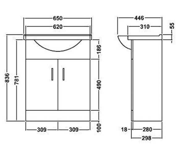 Technical drawing QS-V45060 / VTY650