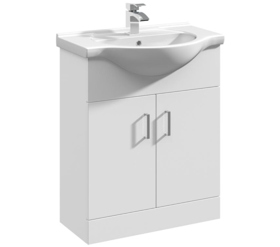 Nuie Premier Mayford 650mm Floor Standing Cabinet With Basin 1 - Basin 2 Optional