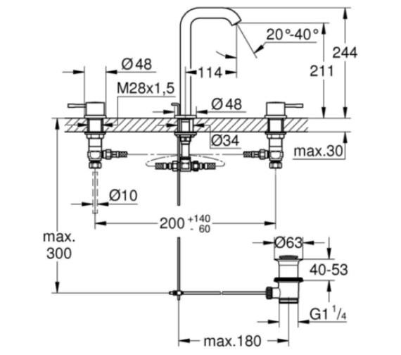 Technical drawing QS-V87020 / 20299001