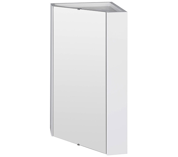 Nuie Mayford High Gloss White 459mm Corner Mirror Cabinet