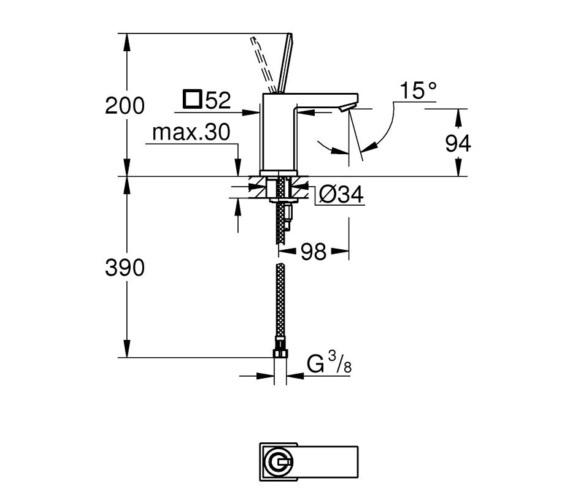 Technical drawing QS-V87024 / 23656000