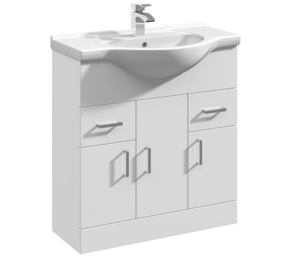 Premier  Mayford 750mm Floor Standing 3 Door And 2 Drawer Cabinet With Basin