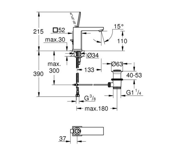 Technical drawing QS-V87025 / 23657000