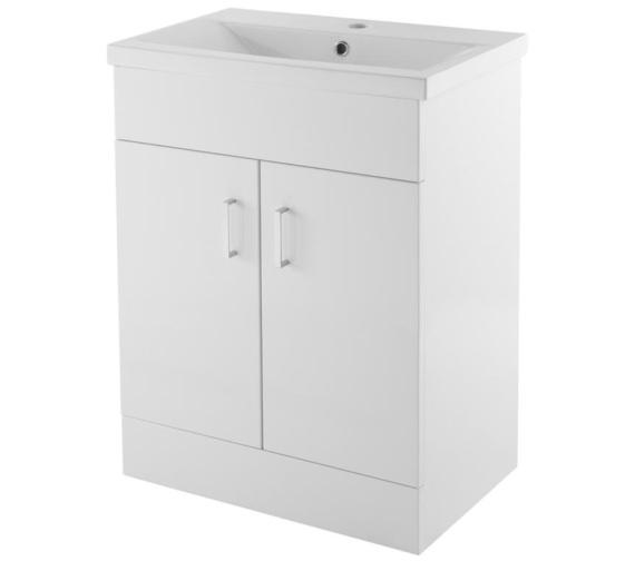 Lauren Eden 600mm Floor Standing 2 Door Cabinet With Basin 1
