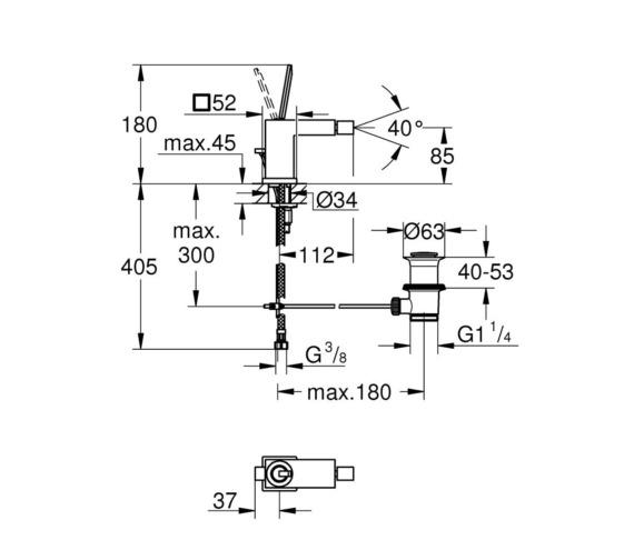 Technical drawing QS-V87028 / 23664000
