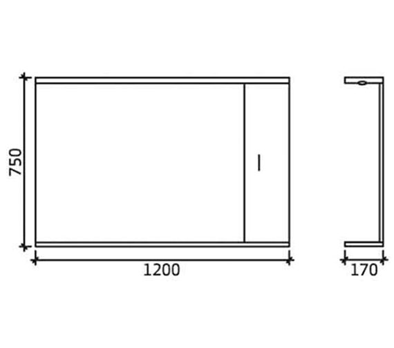 Technical drawing QS-V45071 / PRC117