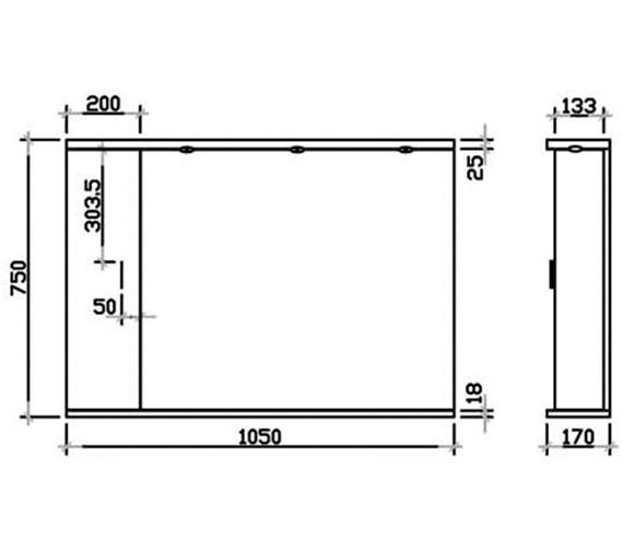 Technical drawing QS-V45070 / PRC116