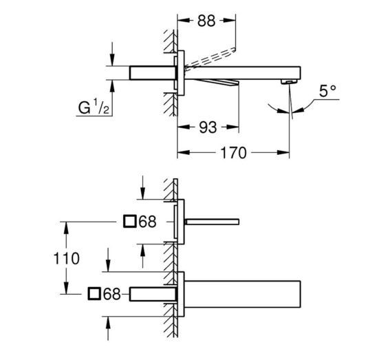 Technical drawing QS-V87018 / 19997000