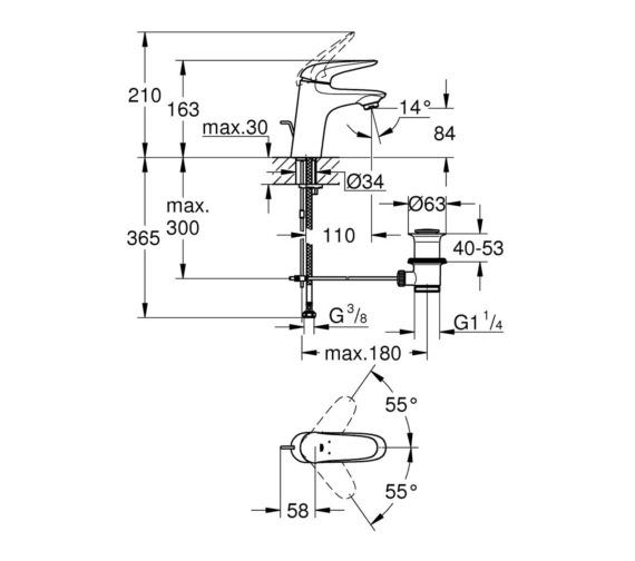 Technical drawing QS-V87033 / 23709003