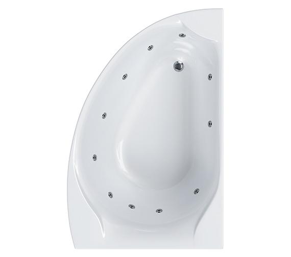 Carron Carisia Offset Corner 11 Jet Whirlpool Bath 1550 x 950mm