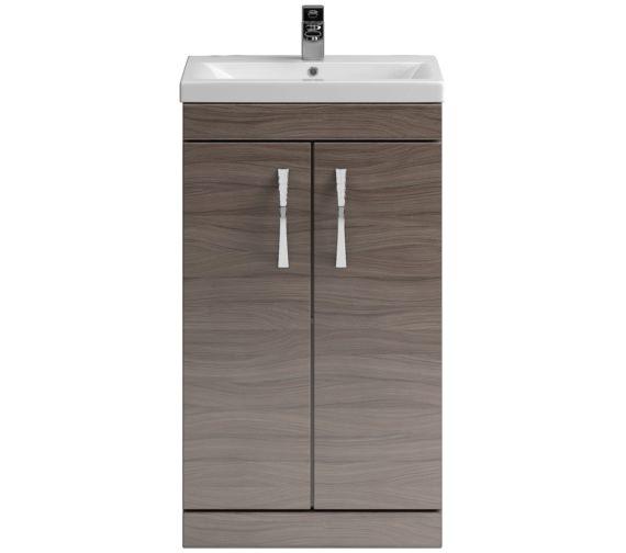 Lauren Shipton 500mm Driftwood 2 Door Floor Standing Cabinet And Basin