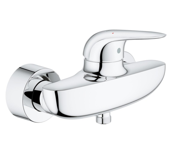 Grohe Eurostyle Wall Mounted Single Lever Shower Mixer Tap Chrome