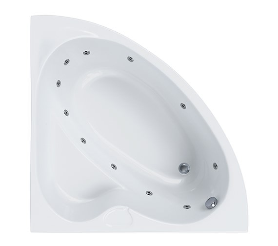 Carron Rio 11 Jet Corner Whirlpool Bath 1050 x 1050mm