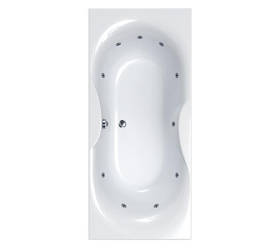 Carron Torino Super Deep 11 Jet Whirlpool Bath 1800 x 800mm