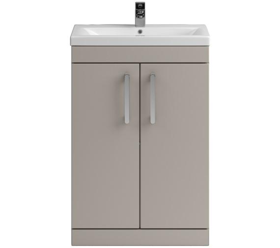 Lauren Shipton 600mm Stone Grey 2 Door Floor Standing Cabinet And Basin